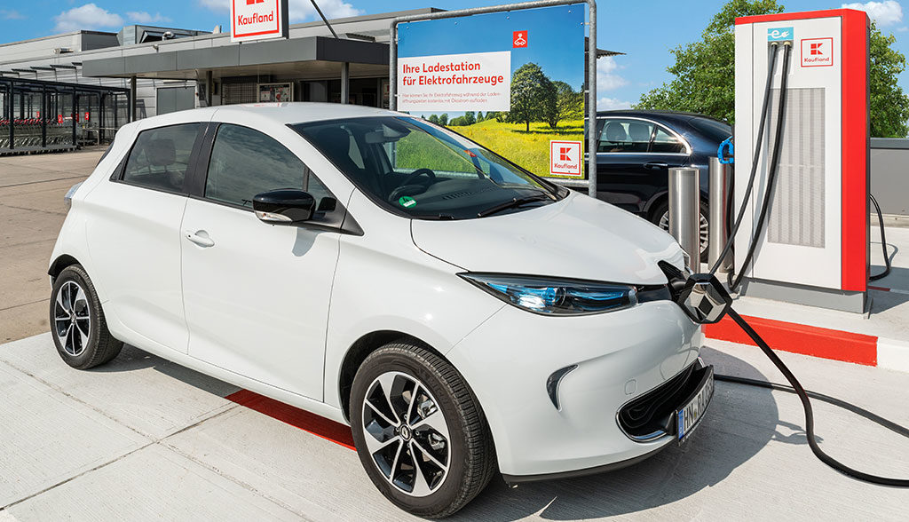 Kaufland-Elektroauto-Ladestation