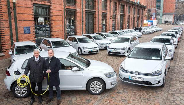 VW-Elektroauto-Dienstwagen