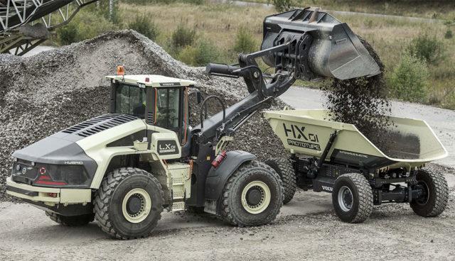 """Volvo CE testet """"ersten emissionsfreien"""" Steinbruch mit Elektro-Nutzfahrzeugen"""