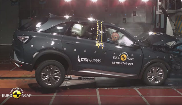 Wasserstoff-SUV Hyundai Nexo erhält fünf Sterne bei EuroNCAP