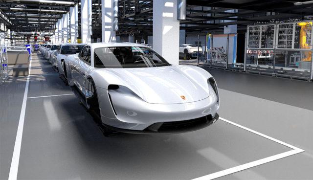 """Porsche-Elektroauto Taycan entsteht in einer """"Fabrik in der Fabrik"""""""
