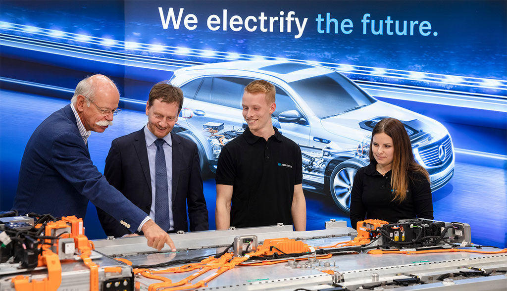 Daimler-Elektroauto-Batterie-Produktion