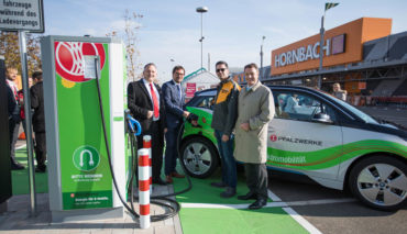 Hornbach-Elektroauto-Ladestation