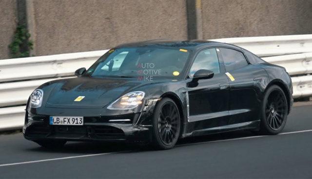 Porsche testet mehrere Taycan auf dem Nürburgring
