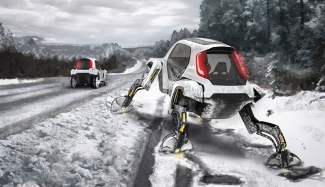 """""""Elevate"""": Hyundai zeigt skurriles Elektro-Rettungsfahrzeug"""