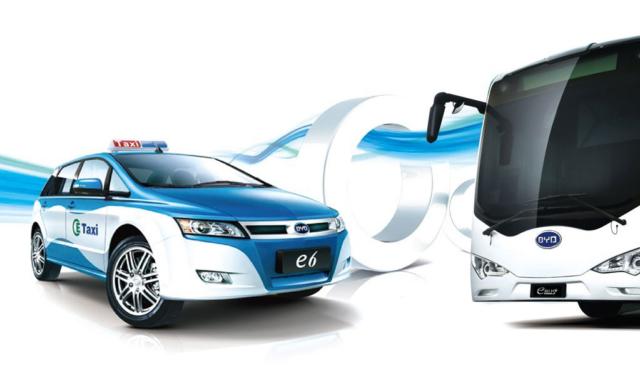 Shenzhen-Elektroauto-Taxis