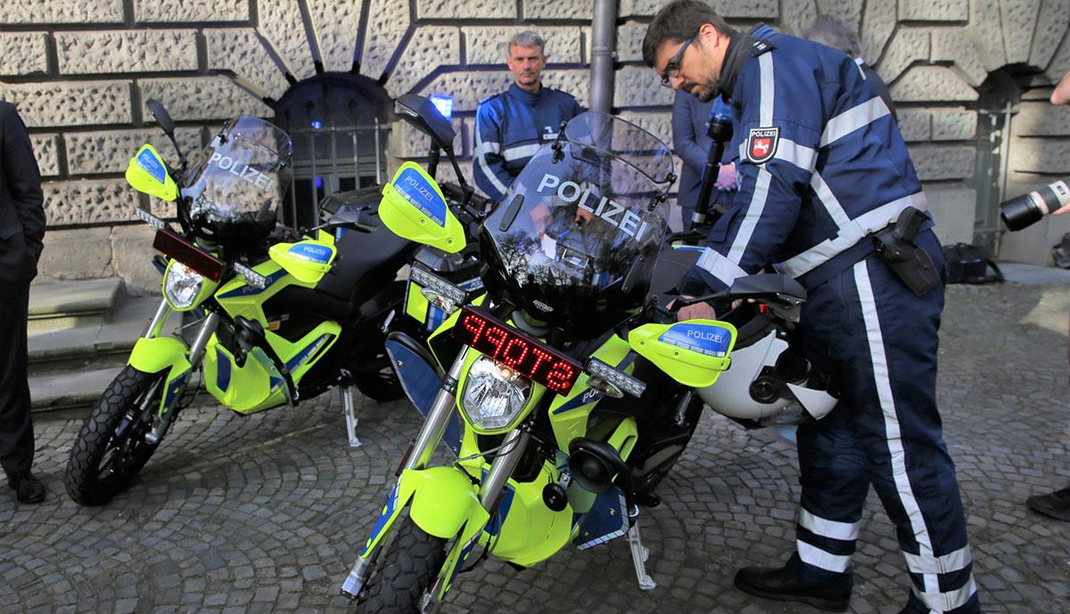 Polizei-Motorrad-Zero-Motorcycles