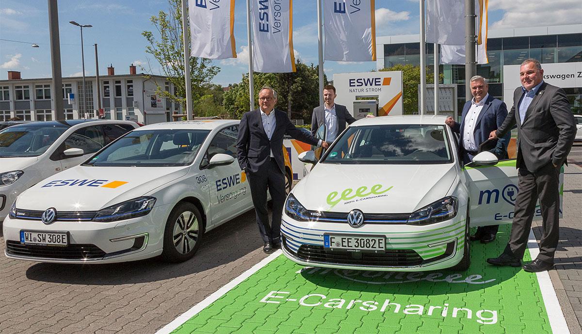 Wiesbaden soll über 100 neue Carsharing-Elektroautos erhalten