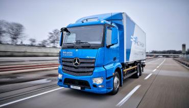 Mercedes-Batterie-Lkw