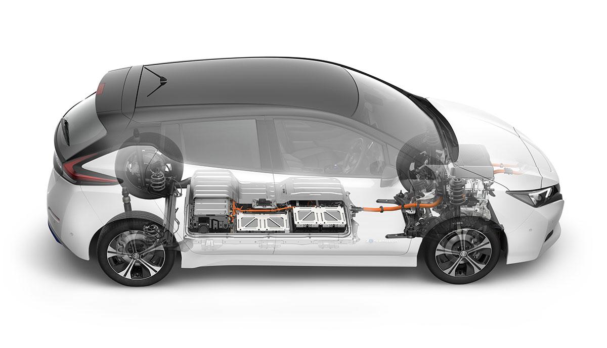Nissan-Elektroauto-Batterie