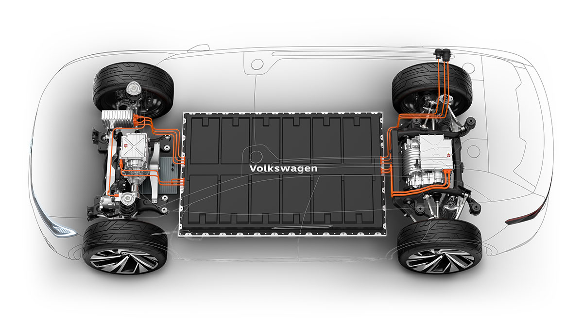 VW-Elektroauto-Batterie