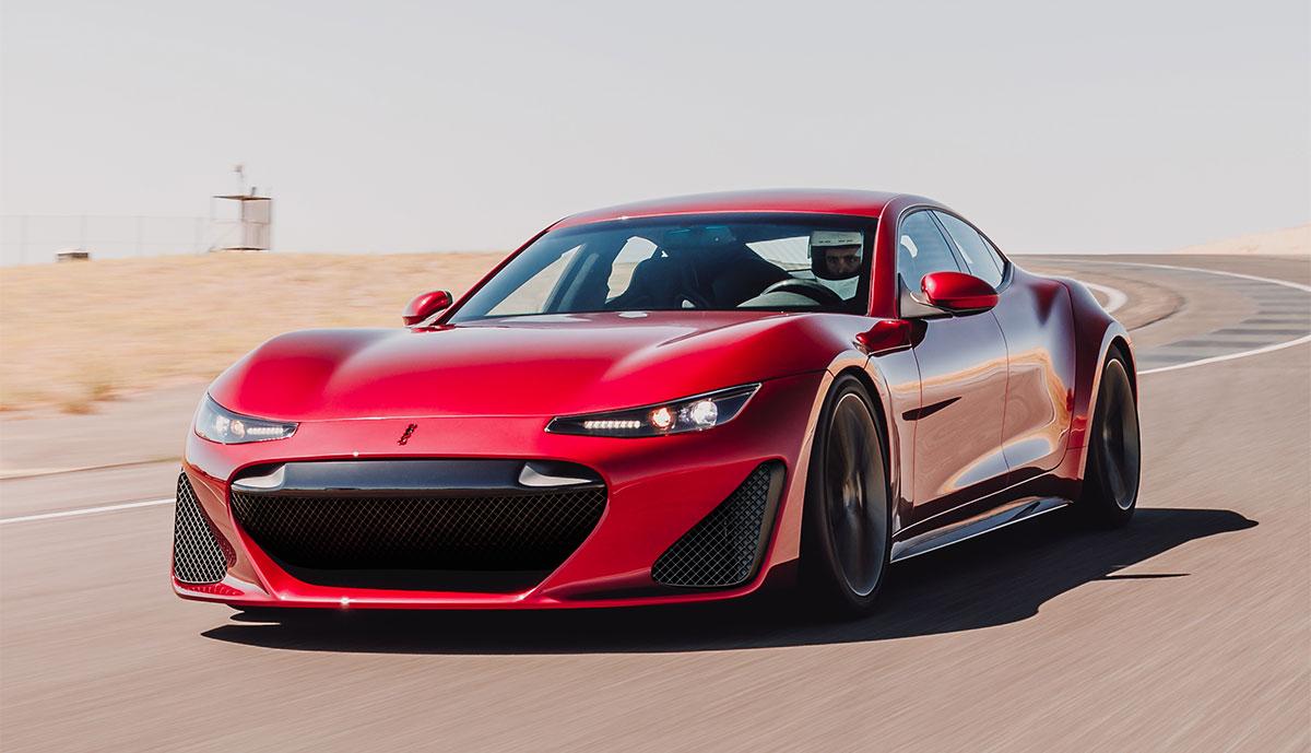 Elektro-Supersportler Drako GTE fährt über 330 km/h schnell