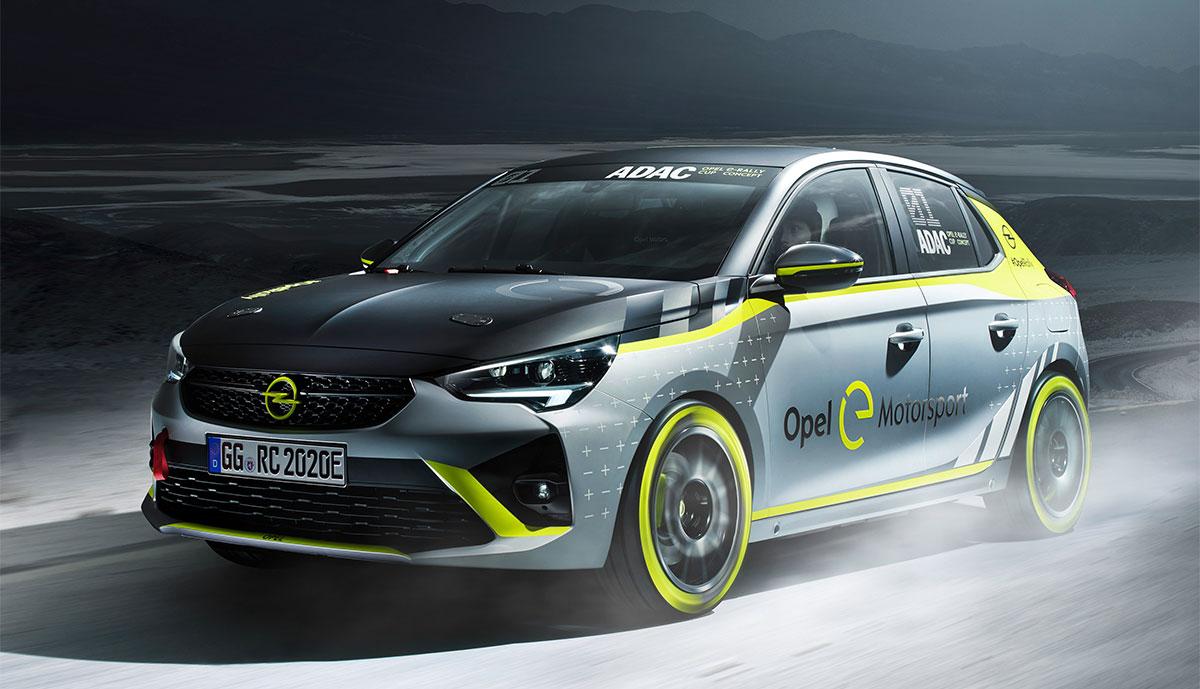 Opel stellt Elektroauto-Rennwagen für ADAC Opel e-Rally Cup vor