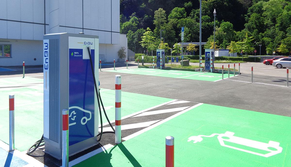 Elektroauto-Schnellladestation
