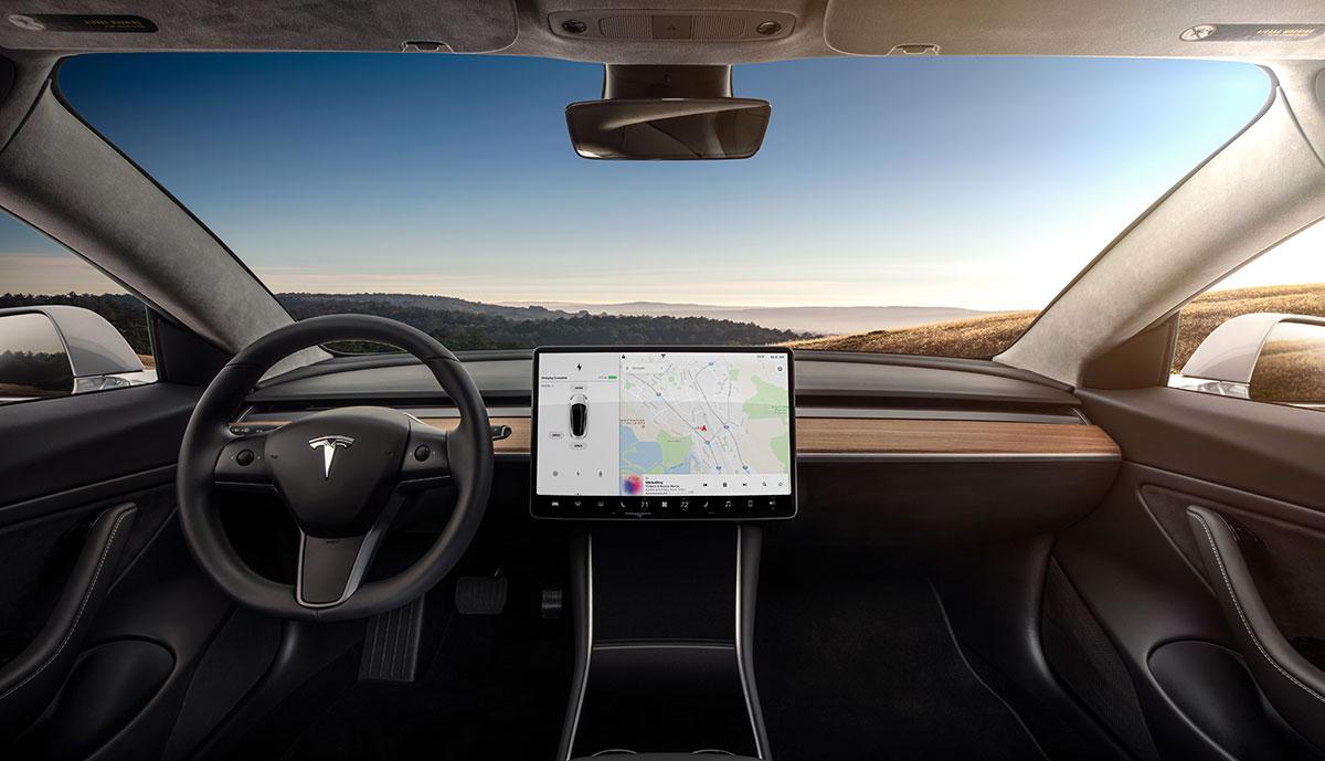 Tesla: Model-3-Interieur jetzt ohne Leder