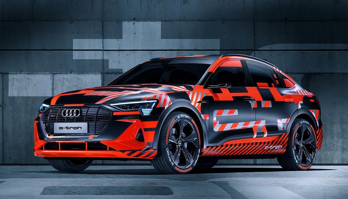 Neue Fotos sollen seriennahen Audi e-tron Sportback zeigen