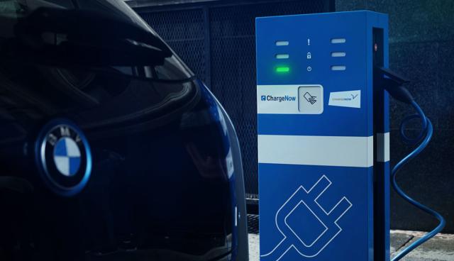 BMW-Elektroauto-Ladestation