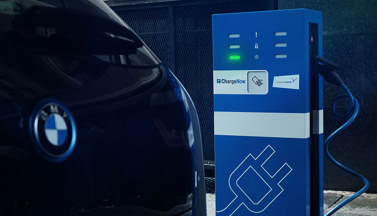 BMW-Elektroauto-Ladestation