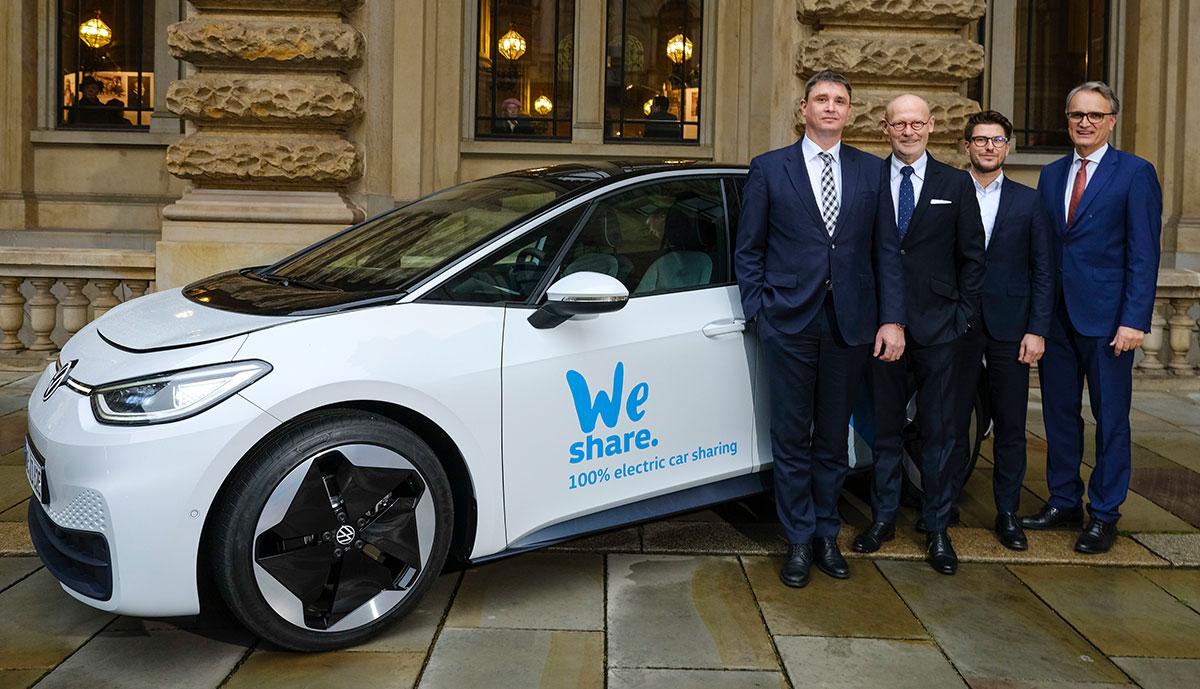VW bringt E-Auto-Carsharing nach Hamburg, Mobilitätspartnerschaft verlängert