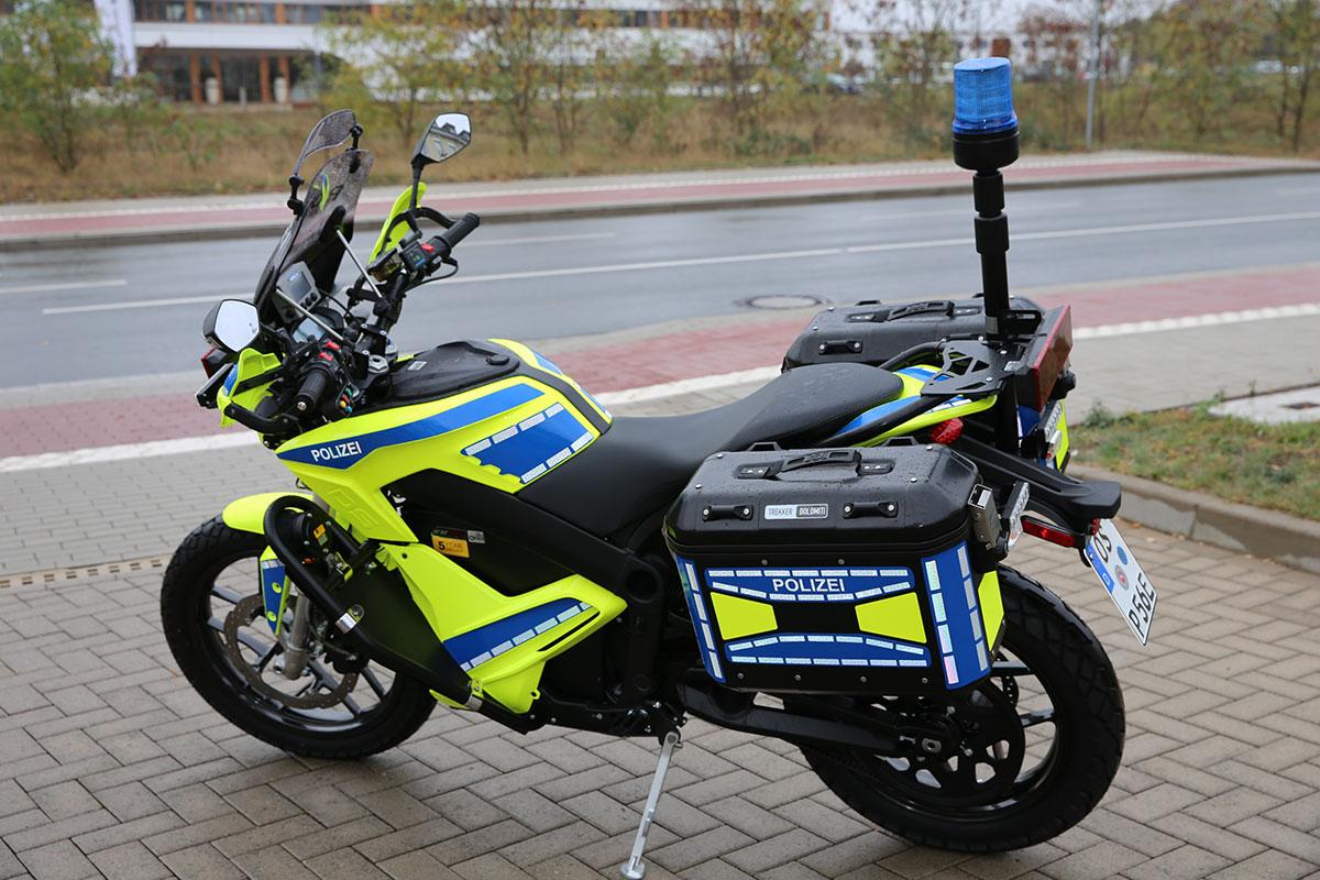 Polizei-E-Motorrad
