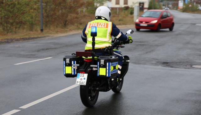 Polizei-Elektro-Motorrad
