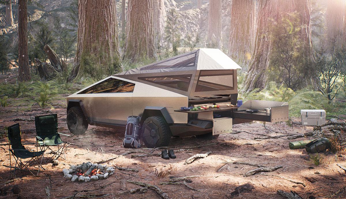 Tesla-Cyberquad-Camping