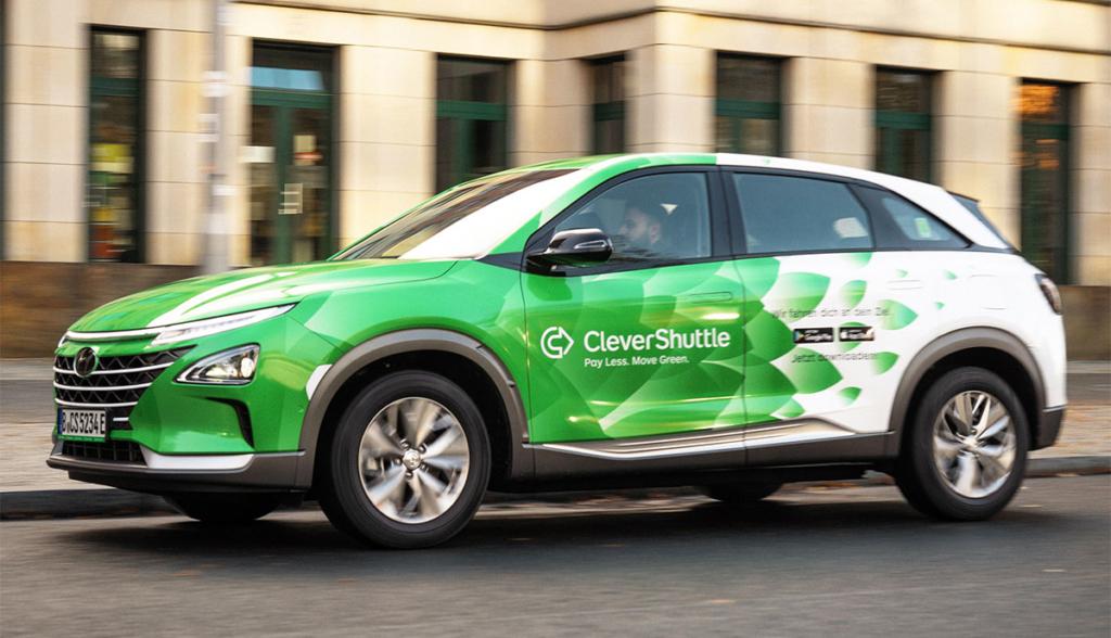 CleverShuttle erweitert Berliner Flotte um 25 Wasserstoff-Stromer