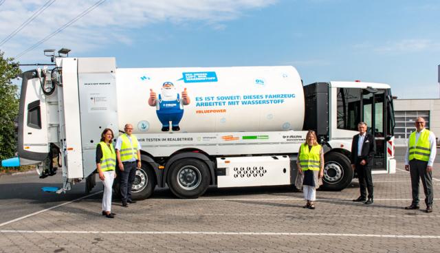 Faun-Bluepower-Wasserstoff-Muellwagen