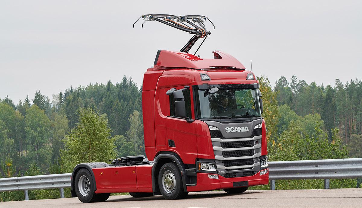 Scania-Oberleitungs-Lkw
