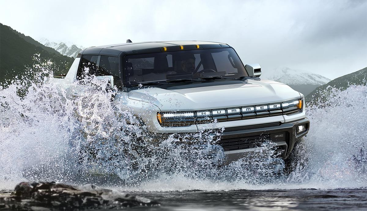 Hummer-EV-Wasser
