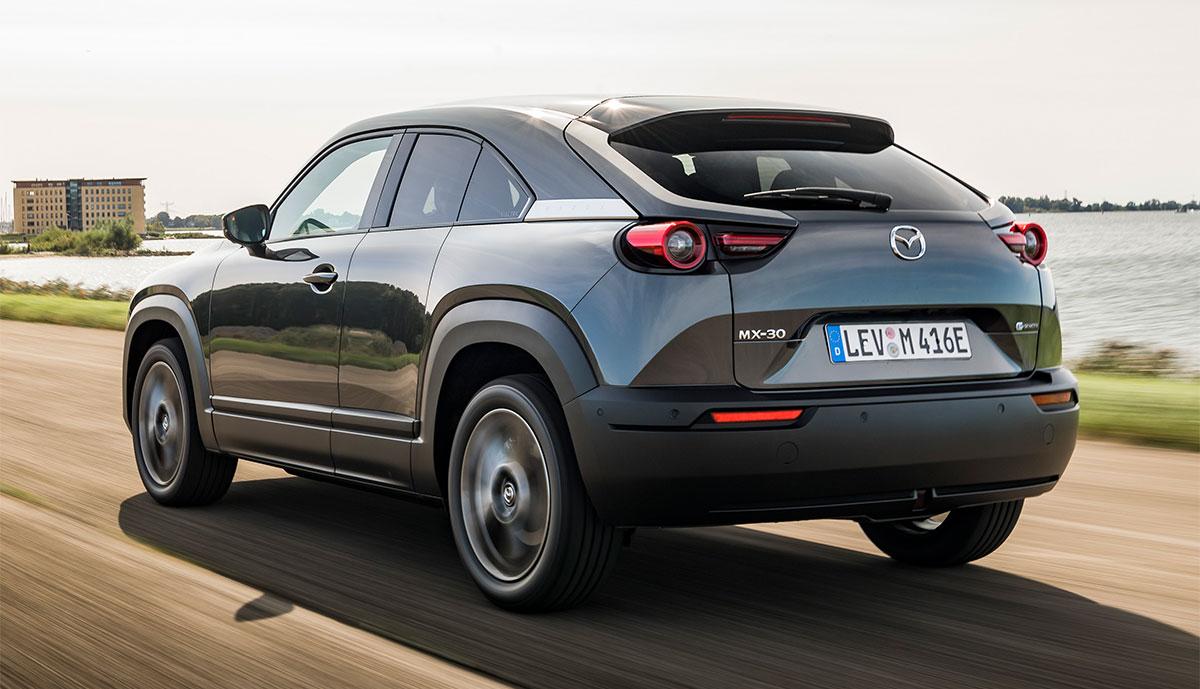 Mazda-MX-30-Grau-Heck