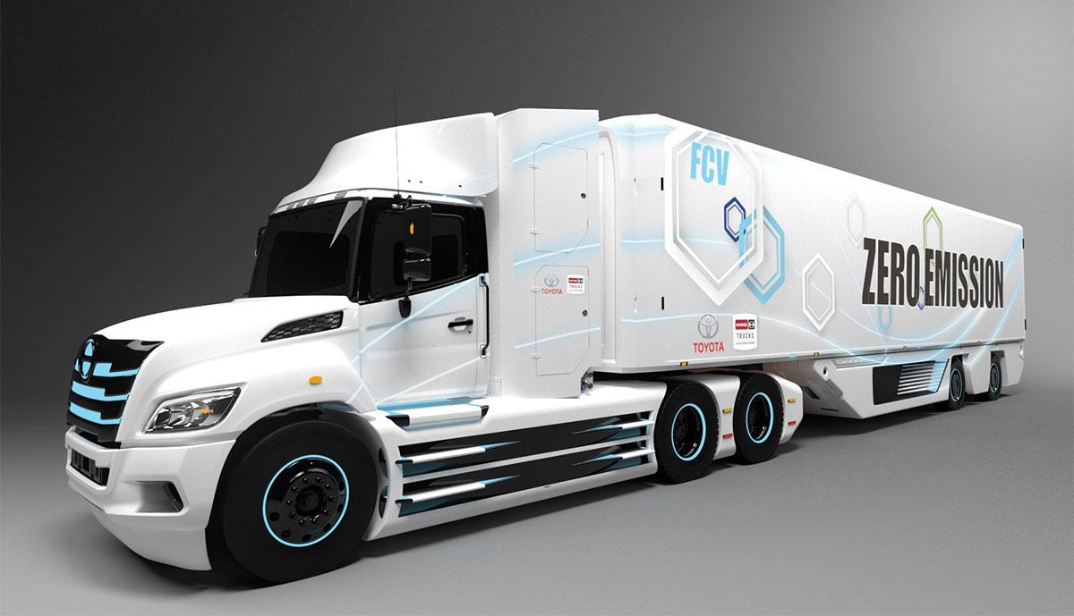 Toyota-Brennstoffzelle-Hino-XL-Lkw