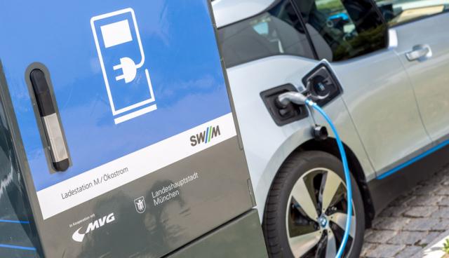 SWM-Elektroauto-Ladestation