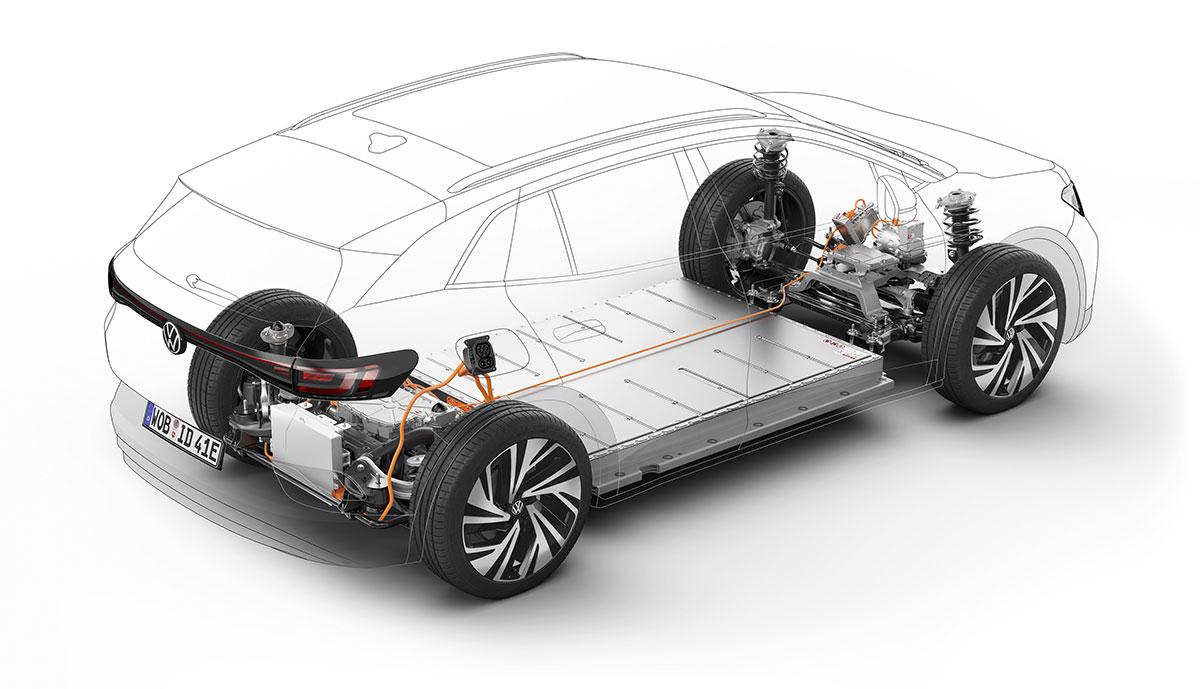 VW-ID4-Technikskizze