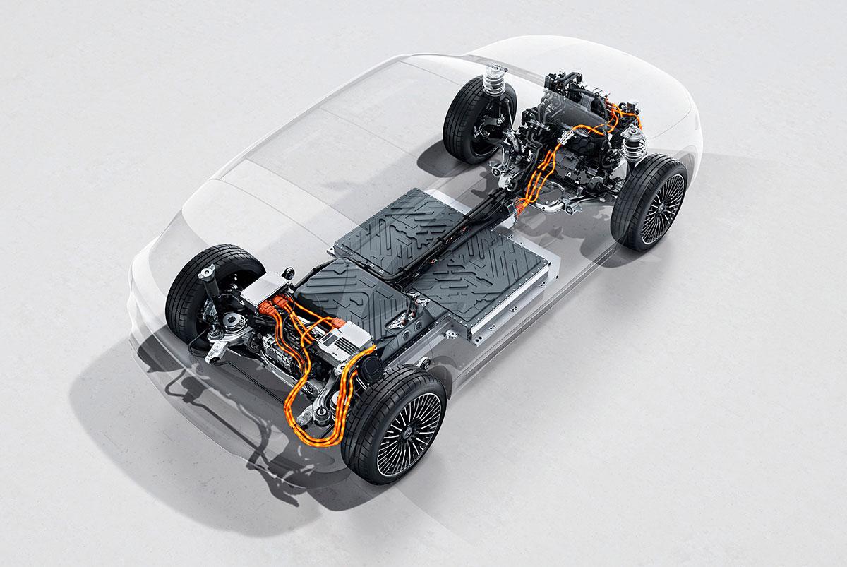 Mercedes-EQA-Allrad-Antriebsstrang