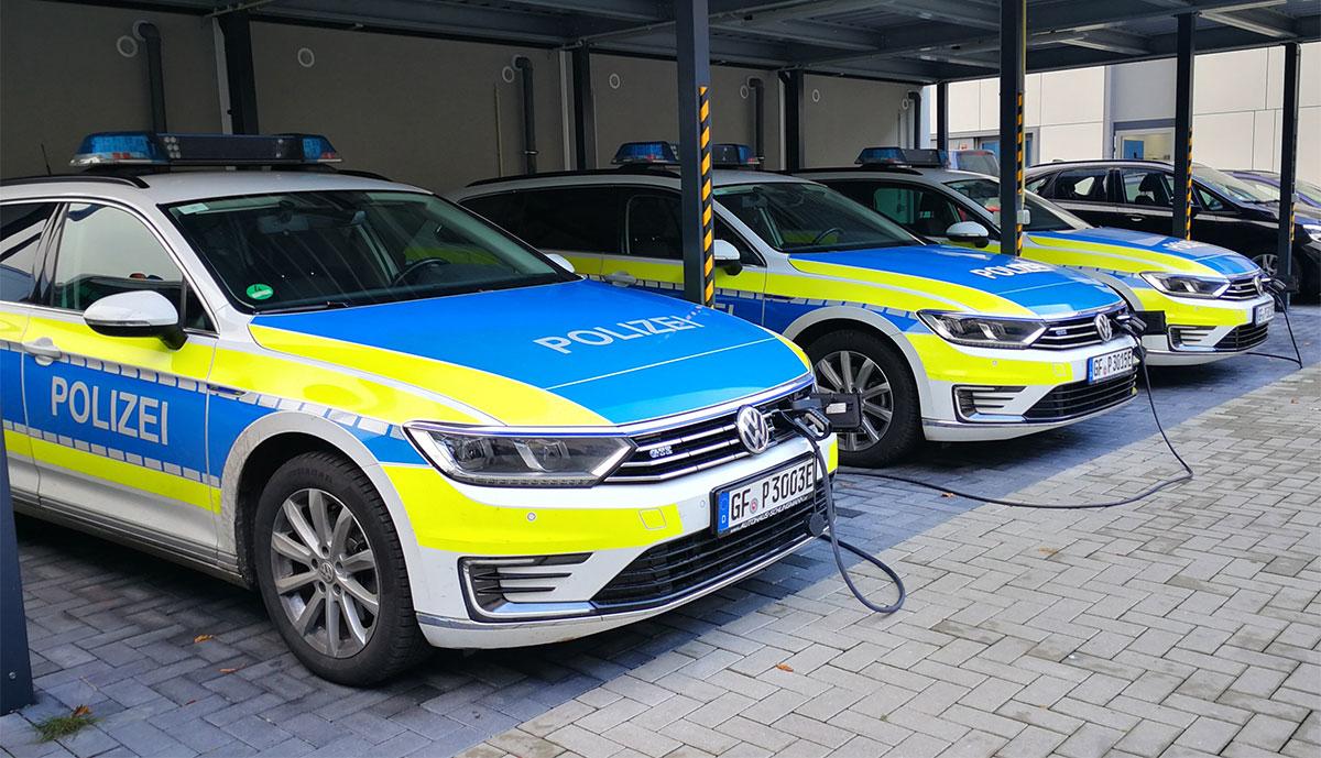 Polizei-E-Autos