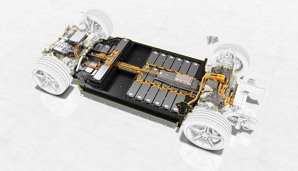 Porsche Taycan Batteriesystem