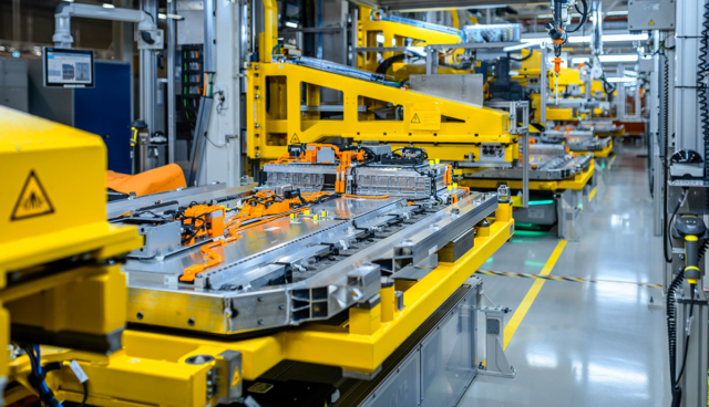 Mercedes-Batterie-Produktion