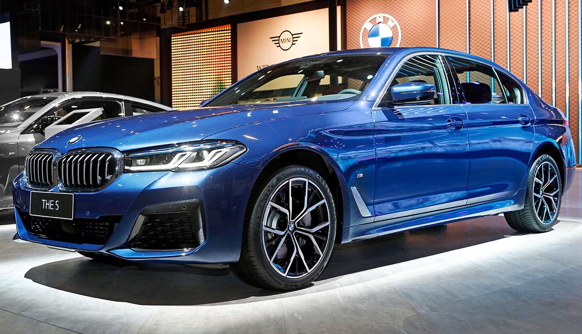 BMW-5er-blau