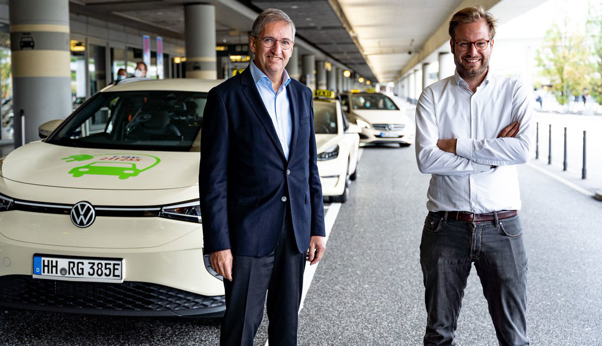 Hamburg-Elektroauto-Taxis