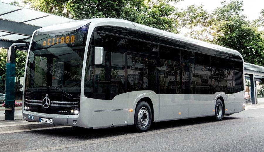Vorschau auf Daimlers ersten Elektrobus eCitaro