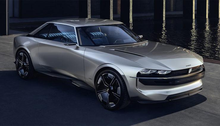Peugeot e-Legend Concept: Elektroauto-Sportler mit Selbstfahr-Modus