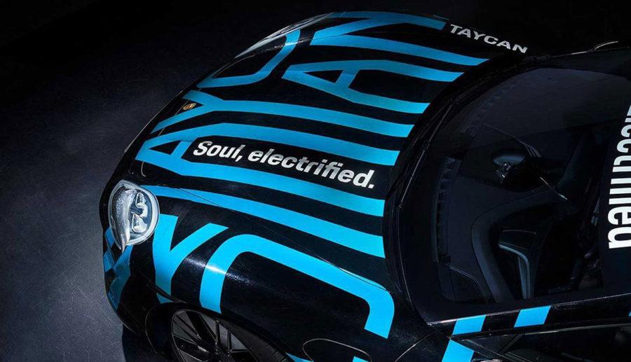 Porsche Taycan: Neue Bilder geben Ausblick auf Front, Seitenlinie und Heck