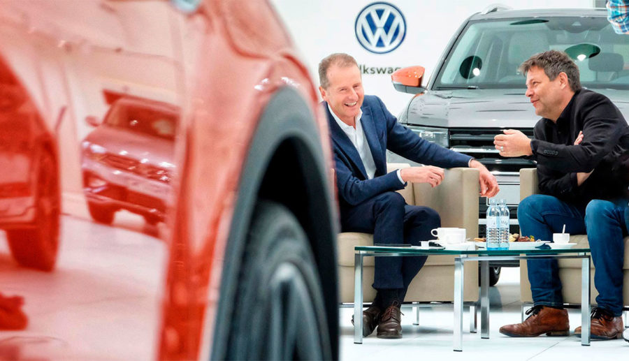 Volkswagen-Boss und Grünen-Chef sprechen über E-Mobilität