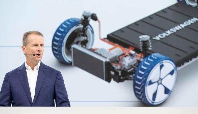 """Volkswagen-Chef Diess: """"E-Mobilität ist auf dem Vormarsch, unaufhaltsam."""""""