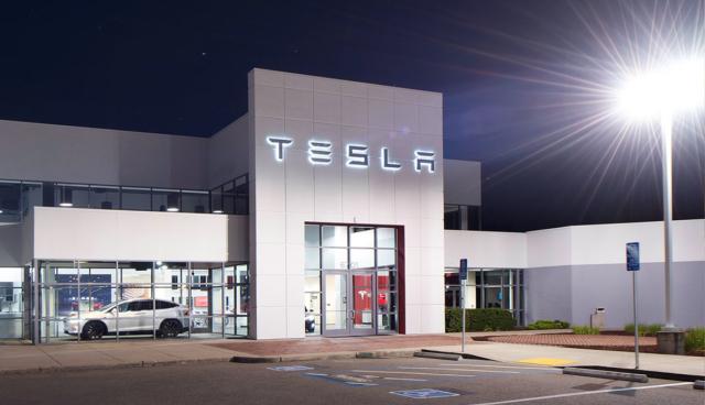 Tesla-Gebaude