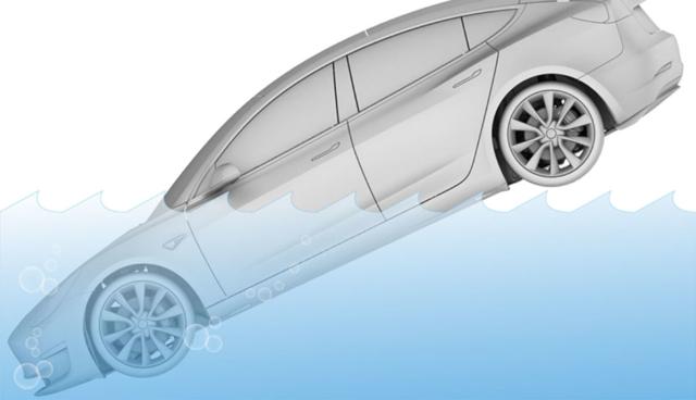 Tesla-Model-S-unter-Wasser
